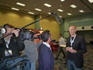 TV interviews at a conference